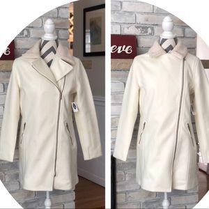Old Navy ⚓️Sherpa Collar Moto Coat * Medium